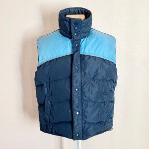 Envoy Old School Two Tone Zip & Snap Puffer Vest